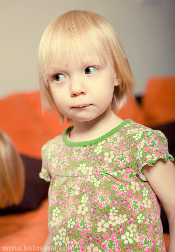 Children portrait with studio lighting
